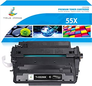 True Image Compatible Toner Cartridge Replacement for HP CE255X 55X CE255A 55A Laserjet P3015dn P3015d P3015n P3015x Enterprise 500 MFP M521dn M521dw M525f M525dn M525c Printer Ink (Black, 1-Pack)