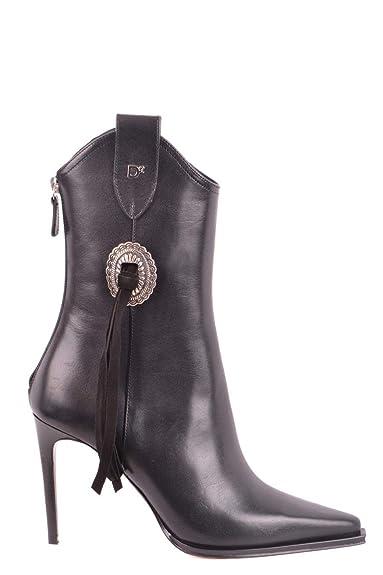 Dsquared2 Abw0044129000012124 Femme Cuir Bottines Noir wOAYHwq
