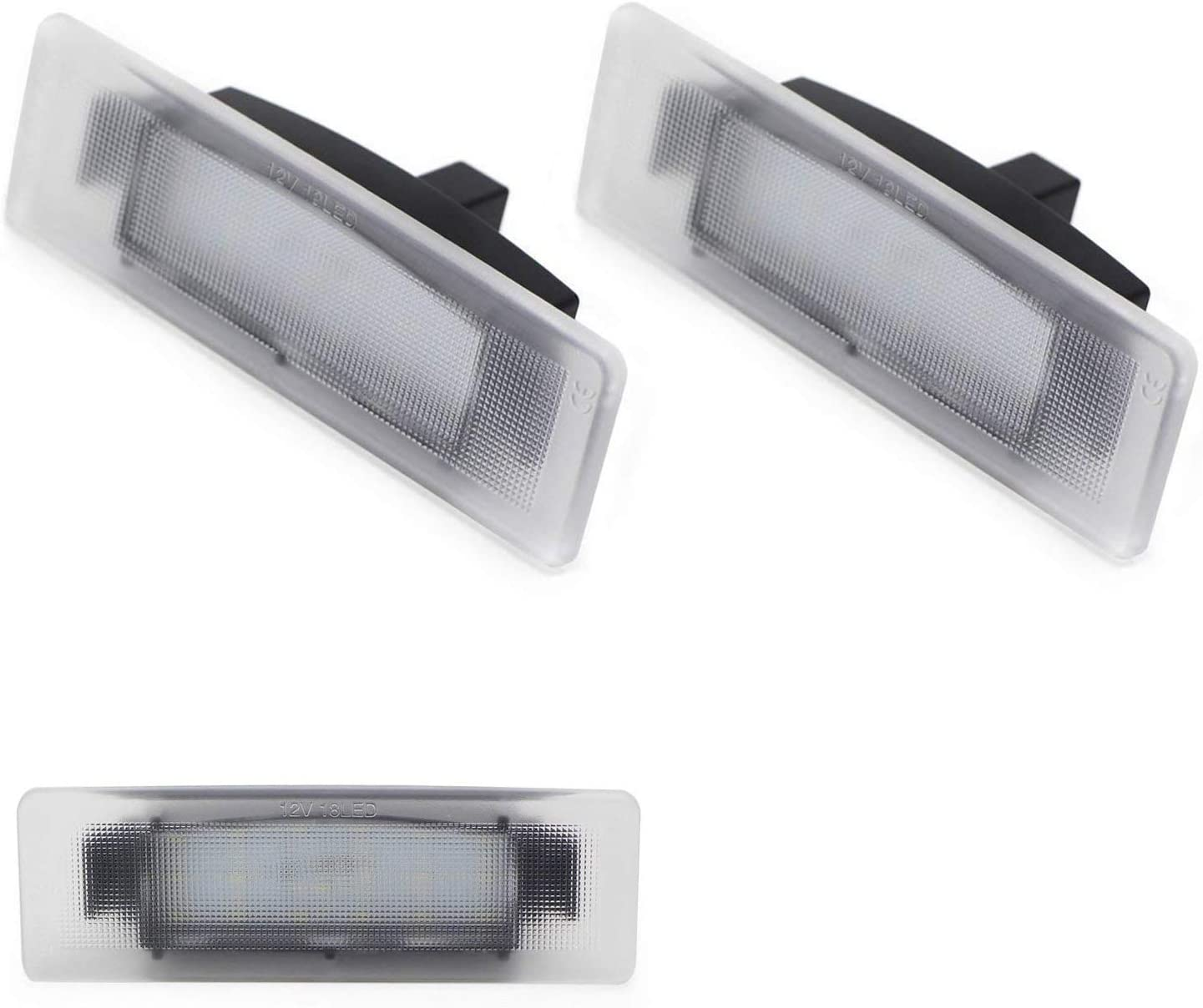2009-16 Genesis Coupe iJDMTOY OEM-Fit 3W Full LED License Plate Light Kit Compatible with Hyundai 2011-17 Veloster Kia 2009-19 Soul Powered by 18-SMD Xenon White LED Diodes