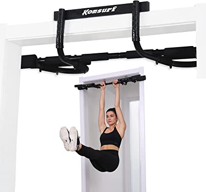 US Chin Pull Up Bar Home Fitness Body Training Equipment Workout Door Gym Sports