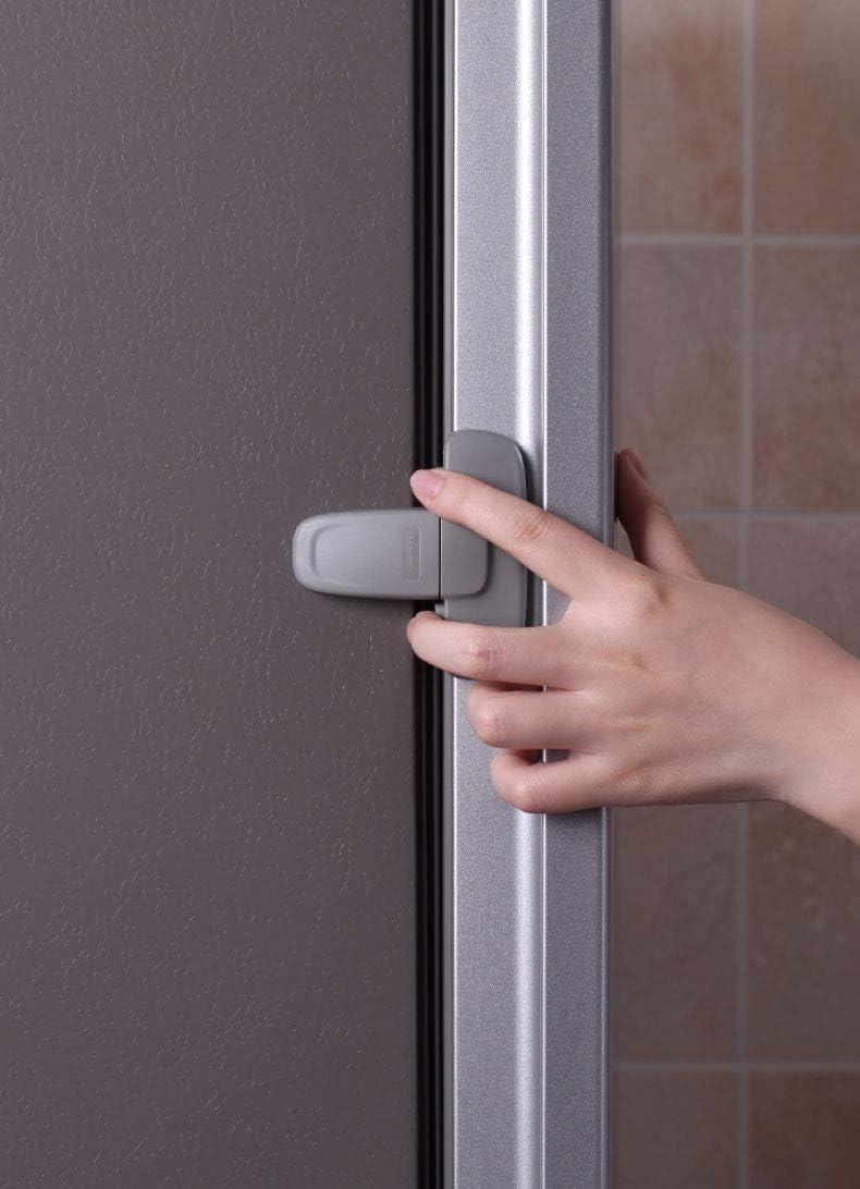 2 piezas Seguridad de Refrigerador Cerradura de la Puerta del f/ácil de instalar y usar de Adhesivo sin necesidad de herramientas o taladro