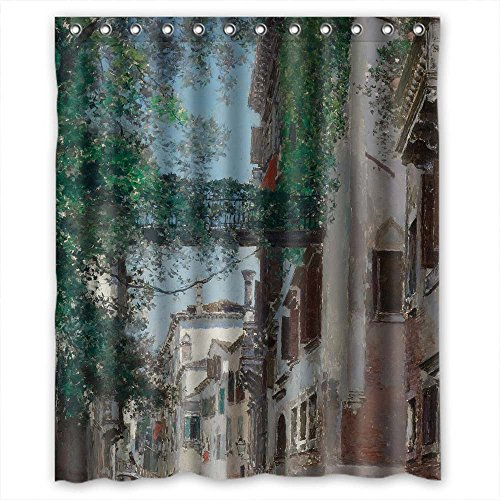 MaSoyy Polyester Bath Curtains Of Beautiful Scenery Landscape Art Painting For Girls Gf Couples Kids Valentine. Anti Bacterial Width X Height / 60 X 72 Inches / W H 150 By 180 Cm(fabric)