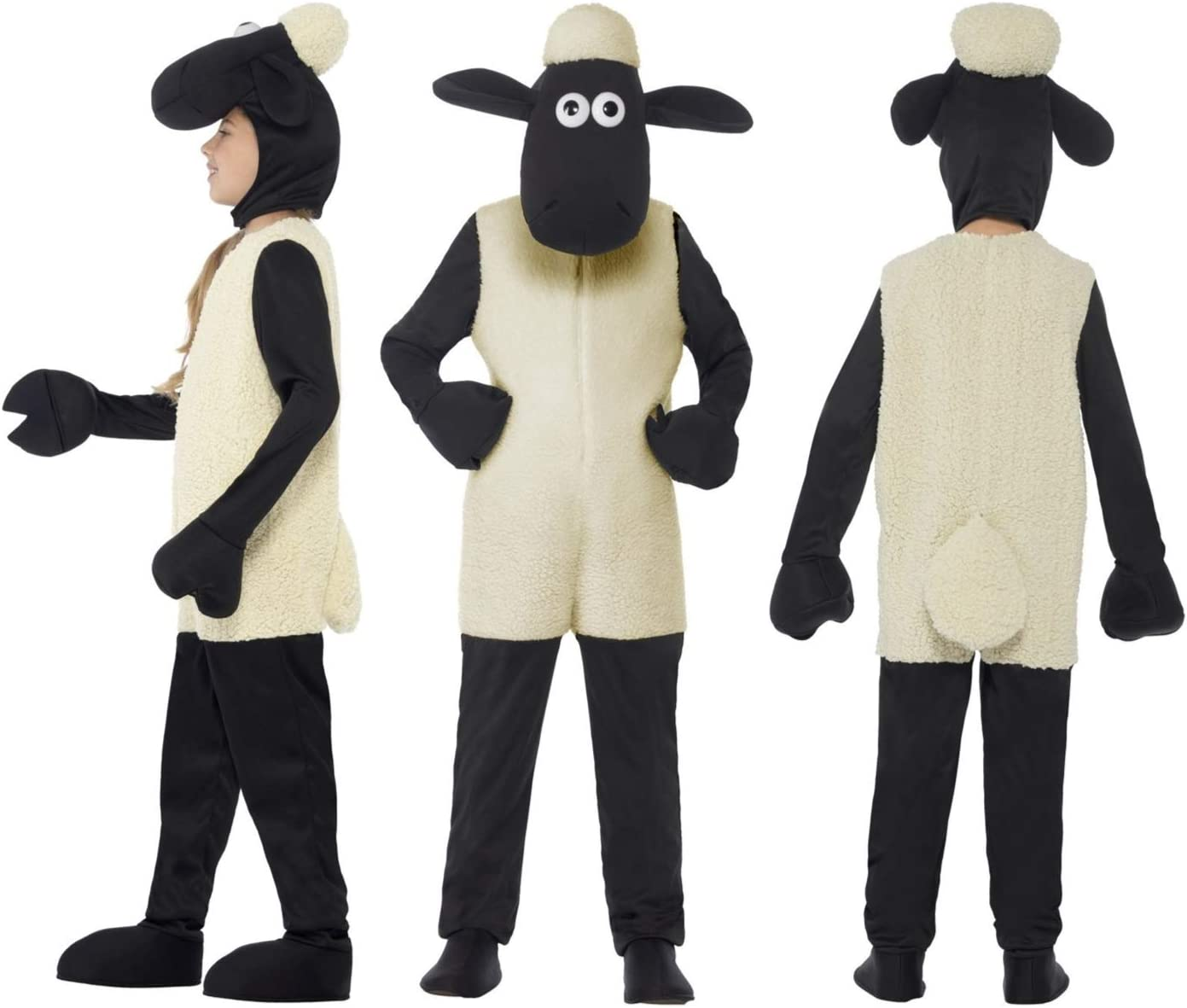 Fancy Dress World Disfraz de Oveja Shaun The Sheep, Color Blanco ...