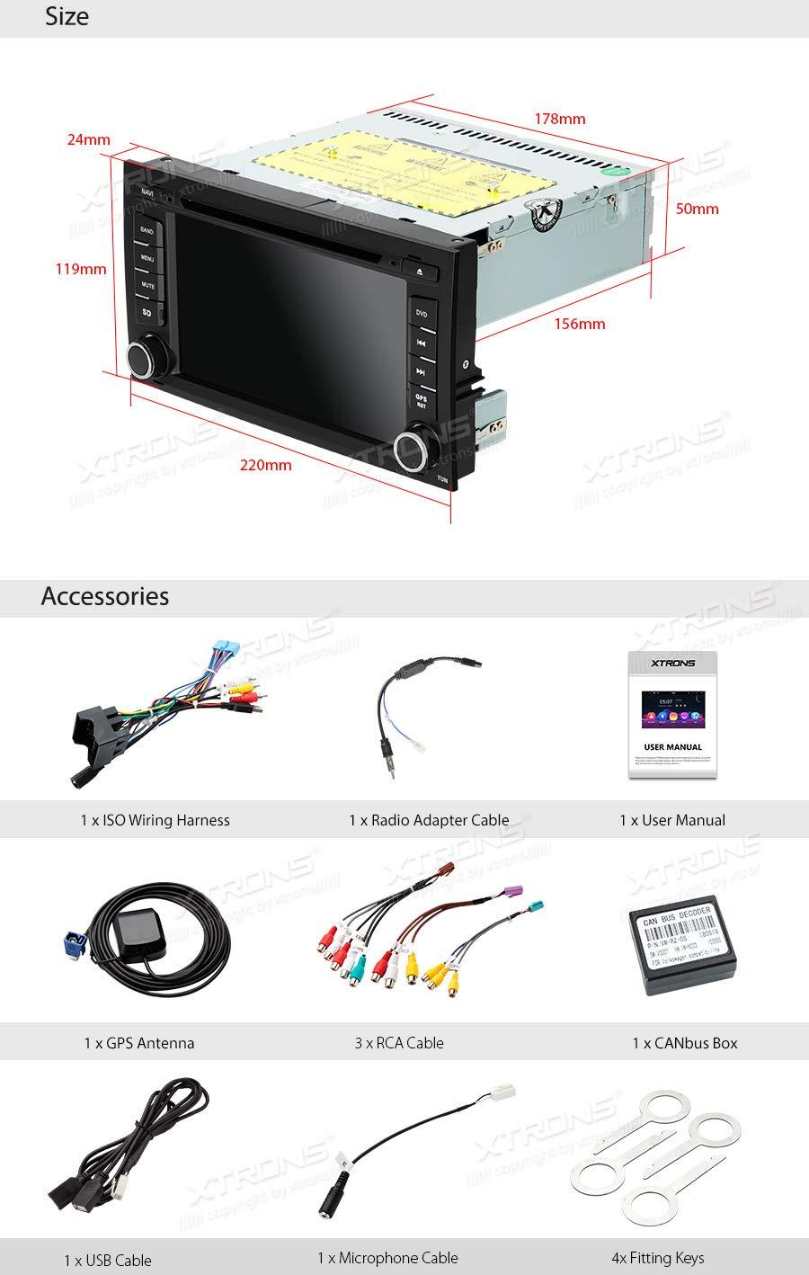 Xtrons 7 Auto Touchscreen Autoradio Dvd Elektronik Wiring Harness Table