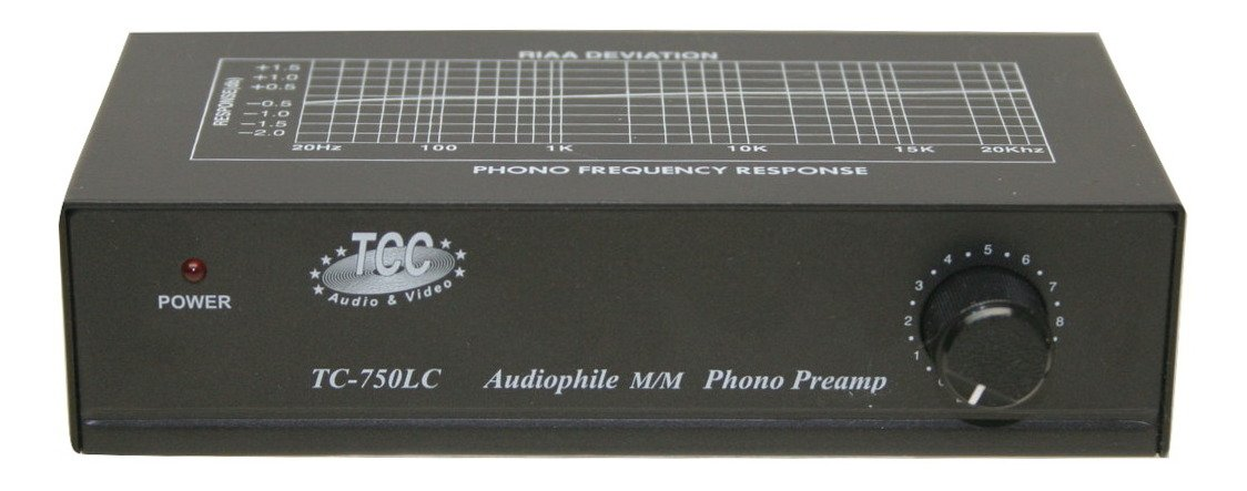 Technolink TC-750LC Audiophile RIAA Phono Preamp with Output Level Control, 85dB S/N; BLACK or SILVER, Your Choice (BLACK) by TEC