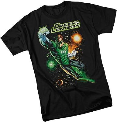 Official DC Comics Green Lantern Distressed Logo T-Shirt Justice League New