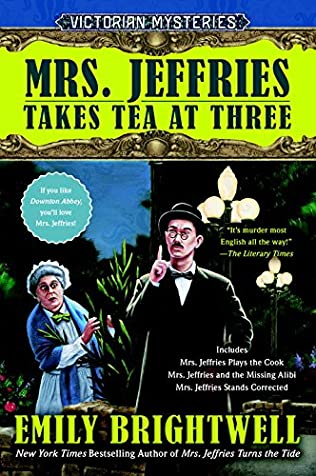 book cover of Mrs. Jeffries Takes Tea at Three