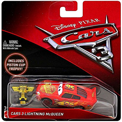 Cup Mcqueen Piston (Disney/Pixar Cars 3 Lightning McQueen Die-Cast Vehicle (Includes Piston Cup Trophy))