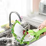 Makaor Handheld Automatic Dish Scrubber Brush Antibacterial Kitchen Dishwasher Brush Kitchen Cleaning Tool Automatic Dish Scrubber Brush (Green, Size:41.8cm x 11.5cm x 7cm)