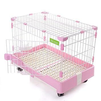 Jaula para Mascotas, Jaula para Conejos/Gatos / Perros, casita para Perros Mediana Mediana - 3 Colores / 2 tamaños: Amazon.es: Hogar