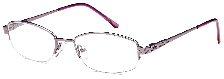 4563c90677 Amazon.com  Womens Thin Prescription Glasses Frames Rxable in Half Rim Brown   Clothing