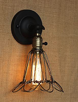 SSBY American Industrial-Style Fence Iron Mesh Bronze Decorative Wall Sconce