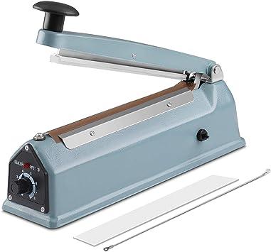"12/"" Impulse Sealer Manual Heat Sealing Machine Poly Tubing Plastic Bag w Teflon"
