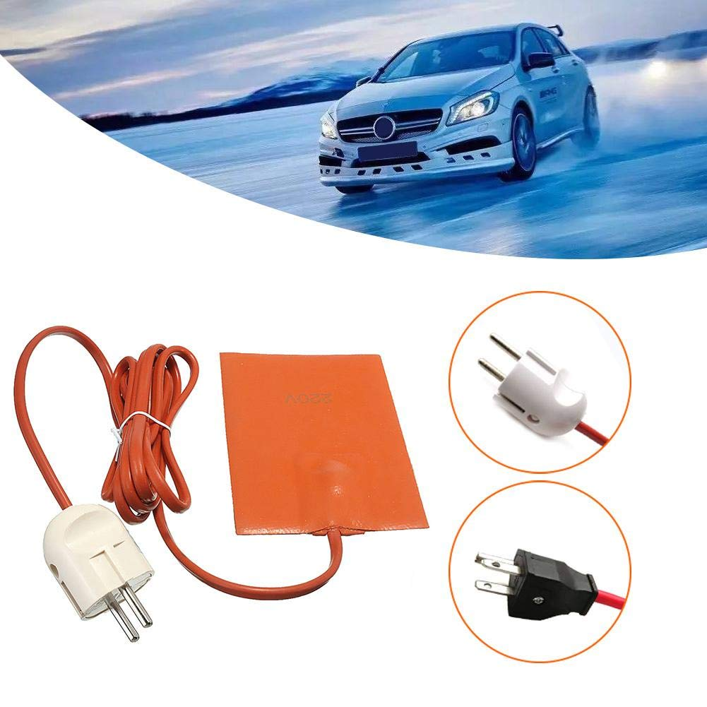 Rifflily Car/Engine/Oil/Pan/Sump/Tank/Heater/Pad with/US/Three/Plug Accepted Convenient