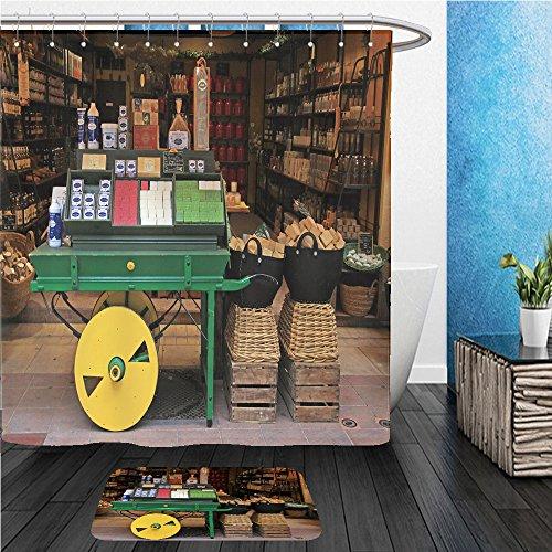 Beshowereb Bath Suit: ShowerCurtian & Doormat depositphotos_38133695 stock photo soap shop in old - In Shop Versace London