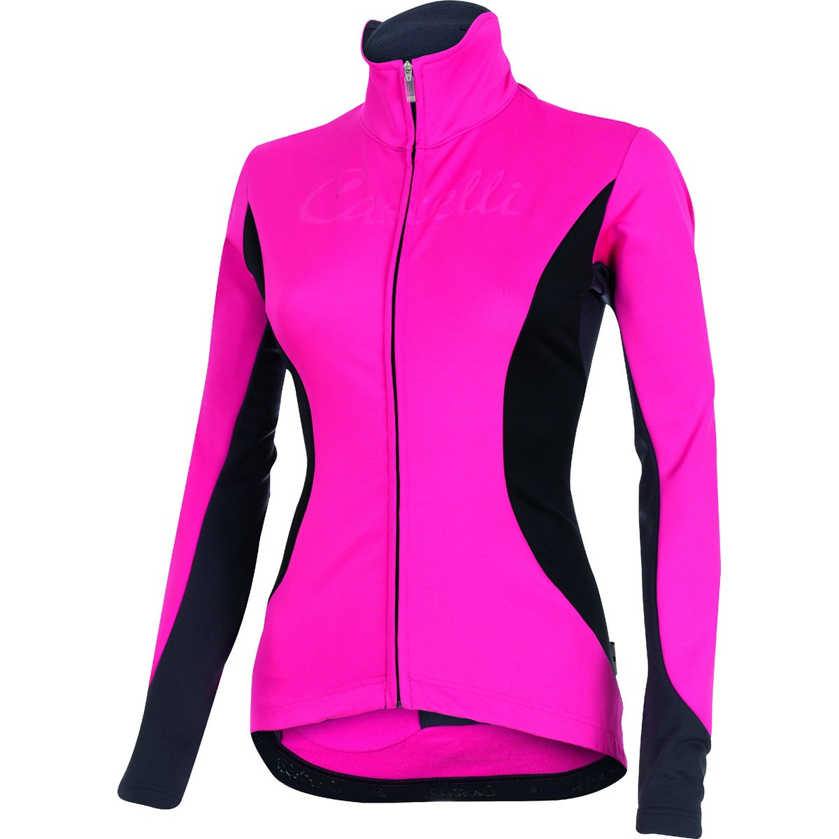 Castelli Trasparente 2フルジップJersey – Long Sleeve – Women 's X-Small ラズベリー B014I6WH20