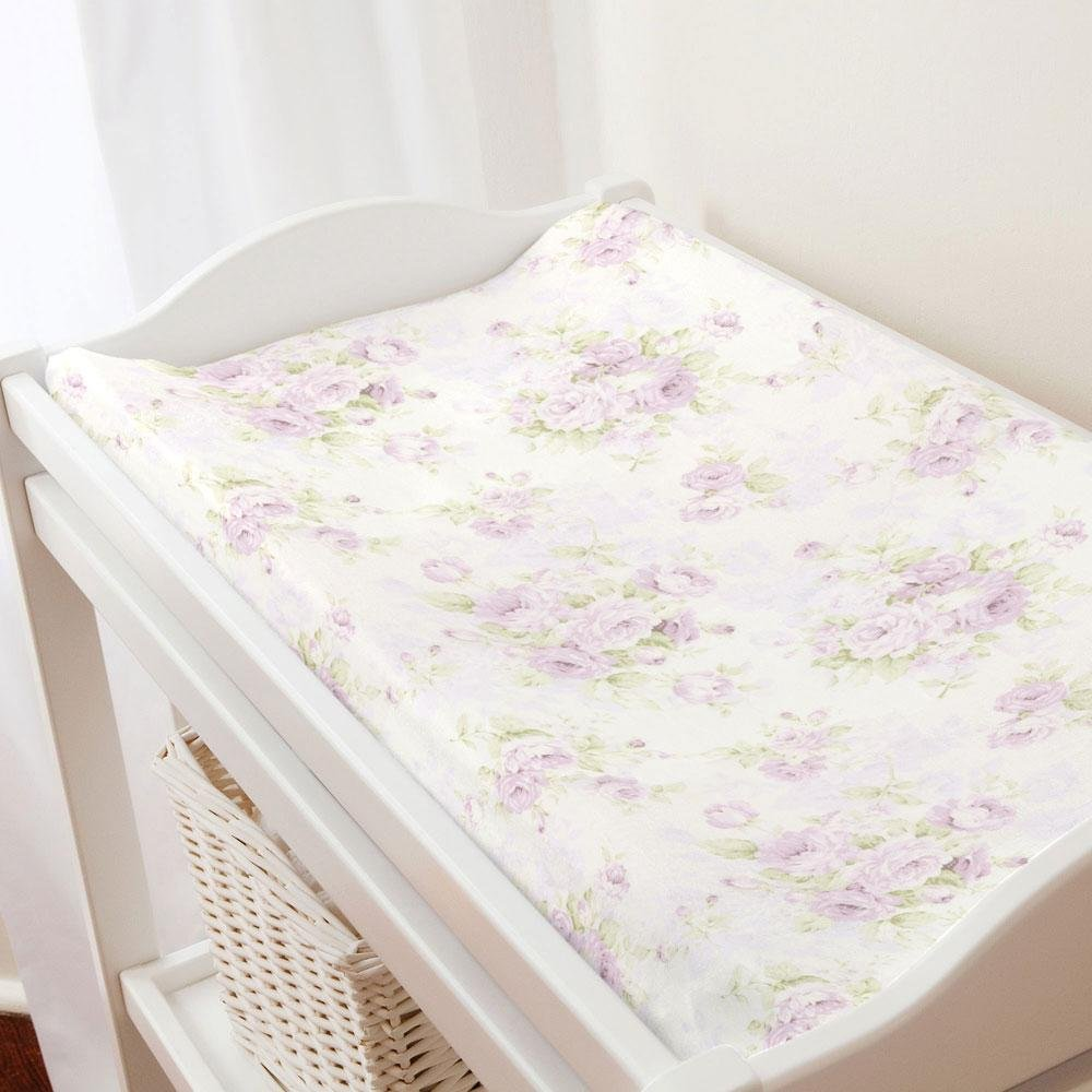 Carousel Designs Lavender Floral Changing Pad Cover