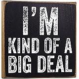 big signs - I'm Kind of a Big Deal Wooden Sign
