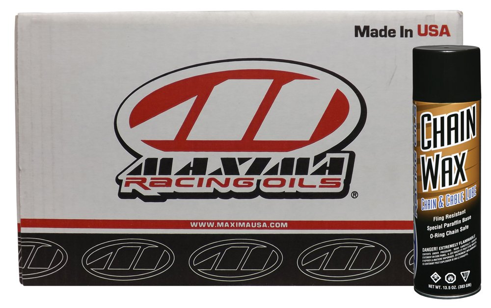 Maxima Racing Oils CS74920-12PK-12PK Chain Wax Aerosol - 162 oz., (Pack of 12)