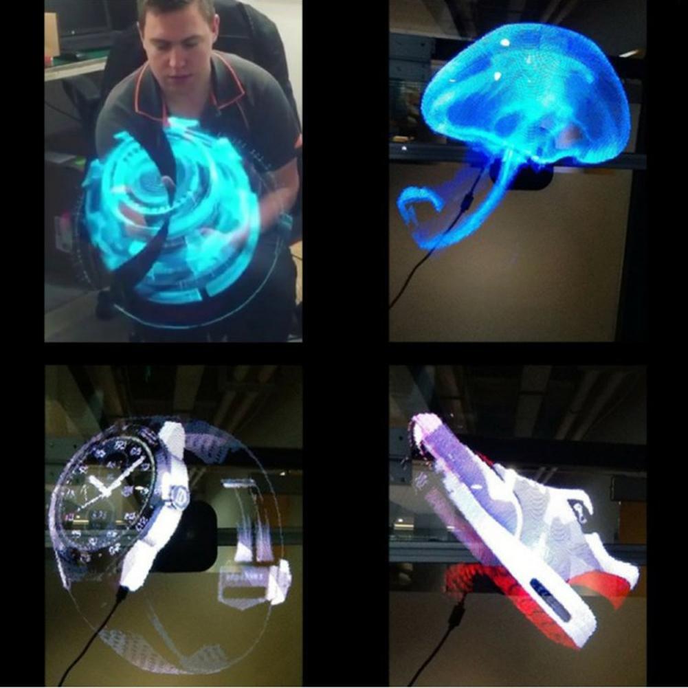 Broadroot. Reproductor de holograma LED holográfico, ventilador de ...