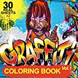 Graffiti coloring book: 30 x 2 Coloring Pages For
