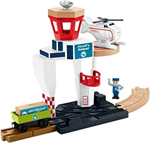 Thomas & Friends Fisher-Price Wood Harold's Helipad Playset