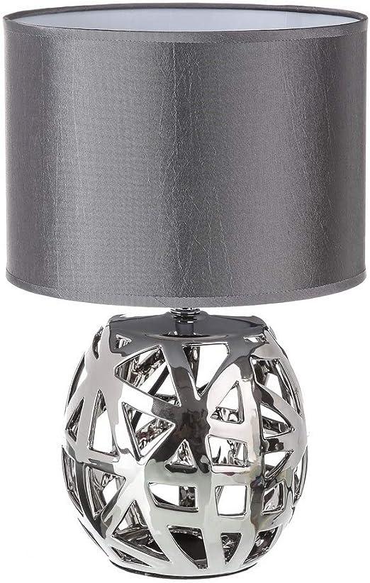 Lámpara de mesa árabe plateada de cerámica para salón Arabia ...