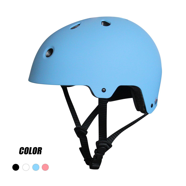 M S Taille L Casque de Skateboard SymbolLife Casque de V/élo et V/éhicule Casque de Ski enfant ABS Protections de R/églable Protecteur de Cyclisme BMX Roller pour Adolescent Adulte