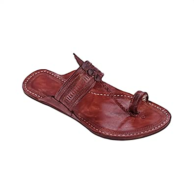 Genuine Good Looking Red Brown kolhapuri Chappal For Men KRKA-M-252