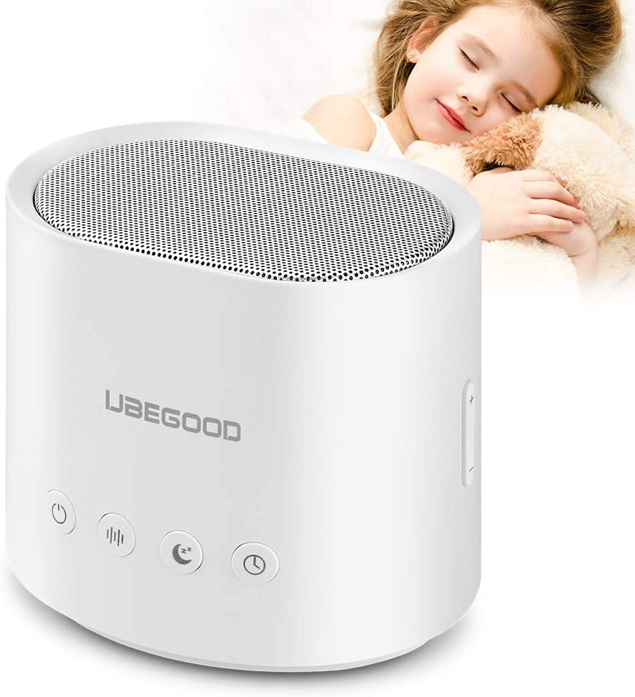 White Noise Machine, UBEGOOD Sound Machine for Sleeping with 26 Non-Looping Soothing Sounds, Noise Machine with Timer & Memory Feature for Baby Adults, Compact Sleep Machine for Home, Office, Travel