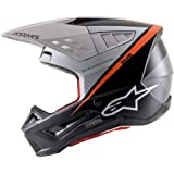Alpinestars SM5 Rayon Helmet-Black/White/Orange Fluo-L