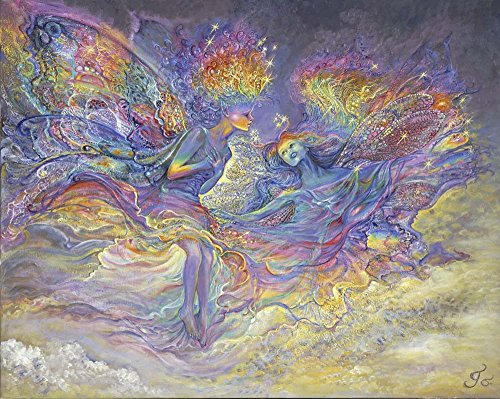 Josephine Wall Posters - Great Art Now Rainbow Fairies by Josephine Wall Art Print, 10 x 8 inches