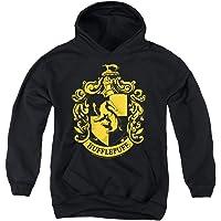 Popfunk Harry Potter Hufflepuff Logo Hogwarts Kids Youth Pullove Hoodie & Stickers