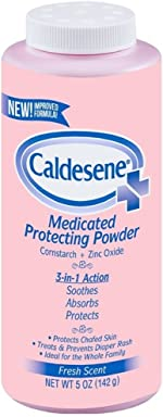 Caldesene Medicated Protecting Powder with Zinc Oxide & Cornstarch, 5 oz