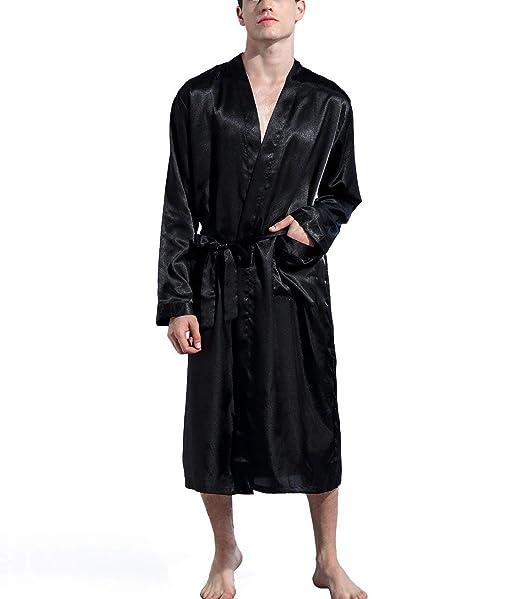 Amazon.com: Ween encanto hombre bata larga ligero de pijamas ...