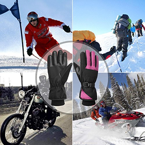 Women Waterproof Windproof Ski Gloves, 3M Thinsulate Snowboard Snowmobile Glove