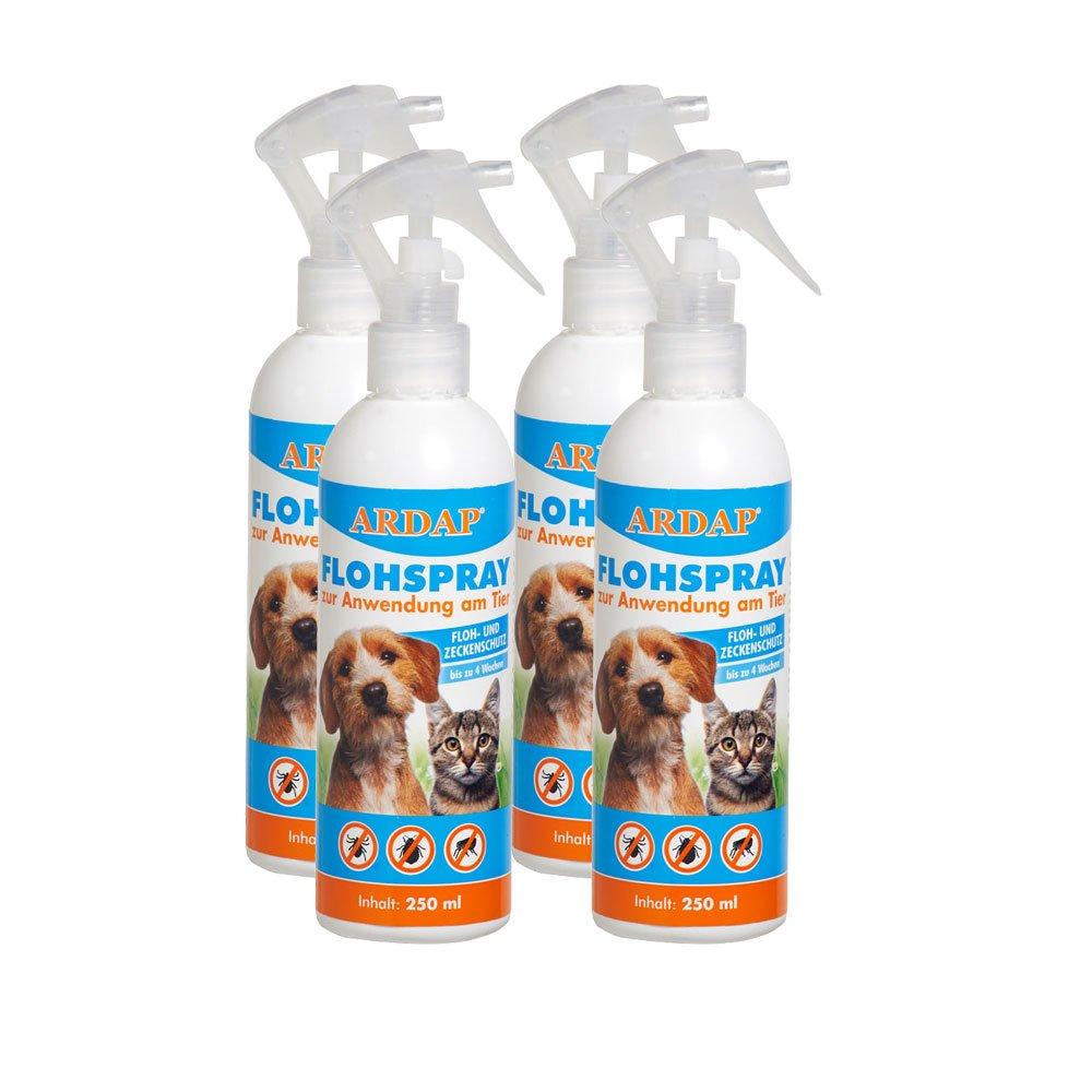 Ardap Flohspray zur Anwendung am Tier 4 x 250ml Quiko
