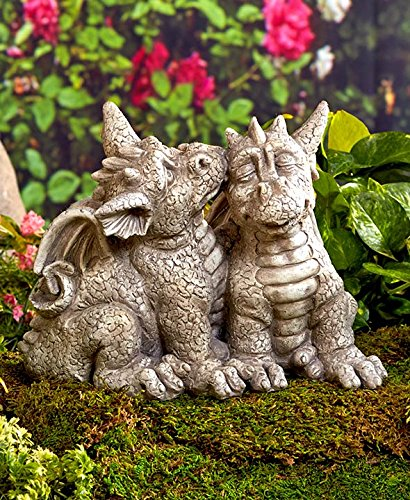Exceptionnel Dragon Couple Garden Statue