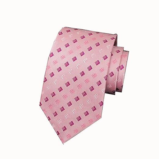 Corbatas YIXINY Clásico Moda Hombres Casarse Negocios Rosa 9.5cm ...