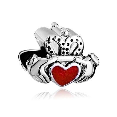 rivenditore all'ingrosso 4e443 db1ea OutCharmed, ciondolo celtico dell'amicizia per l'amico del cuore, adatto a  braccialetti Pandora