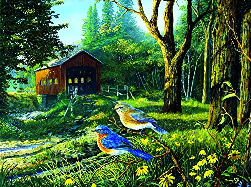 Sleepy Hollow Blue Birds 1000 Piece Jigsaw Puzzle by SunsOut