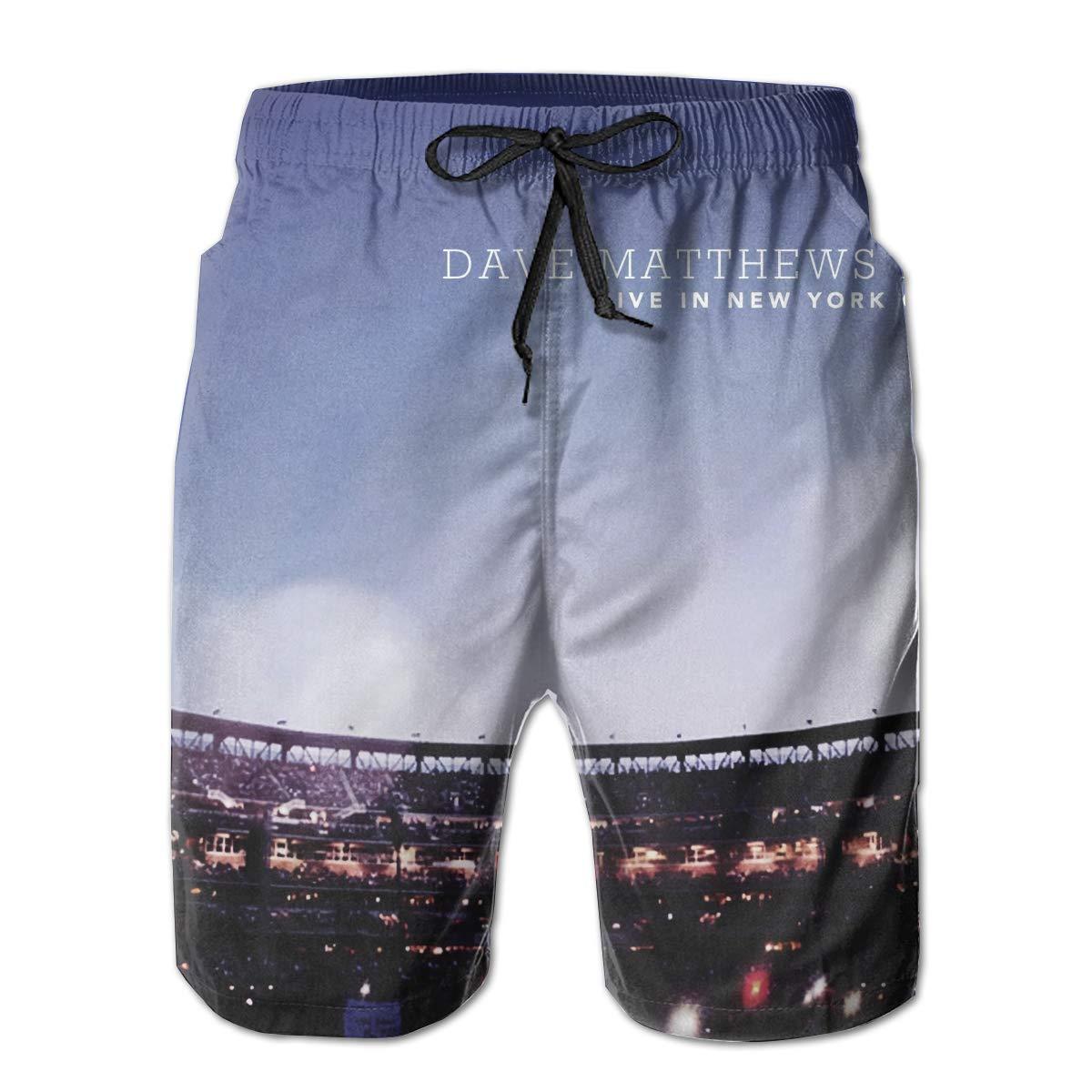 Dave Matthews Live in New York City Mans Summer Beach Shorts Surfing Pants