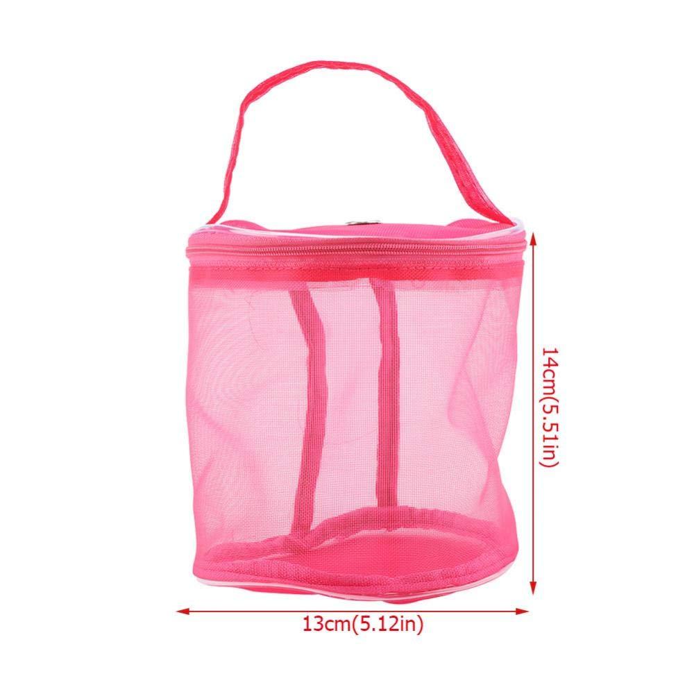 Bolsas de tejer port/átiles con cilindro de malla de lana para llevar c/ómodas y exquisitas bolsas de mano FTVOGUE