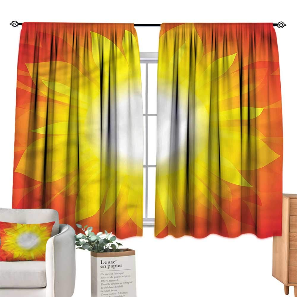 Amazon Com Familytaste Yellow And Red Kitchen Curtains