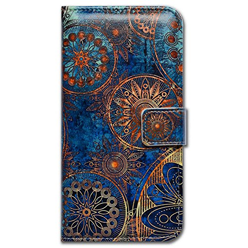 (iPhone 6S Case,iPhone 6 Case, Bfun Packing Bcov Gorgeous Colours Circle Card Slot Wallet Leather Cover Case for iPhone 6 6S )