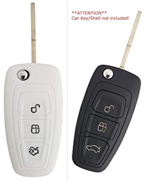 CK + FORD Auto de llave móvil Key Cover Case Funda Silicona para Focus Kuga Mondeo Galaxy
