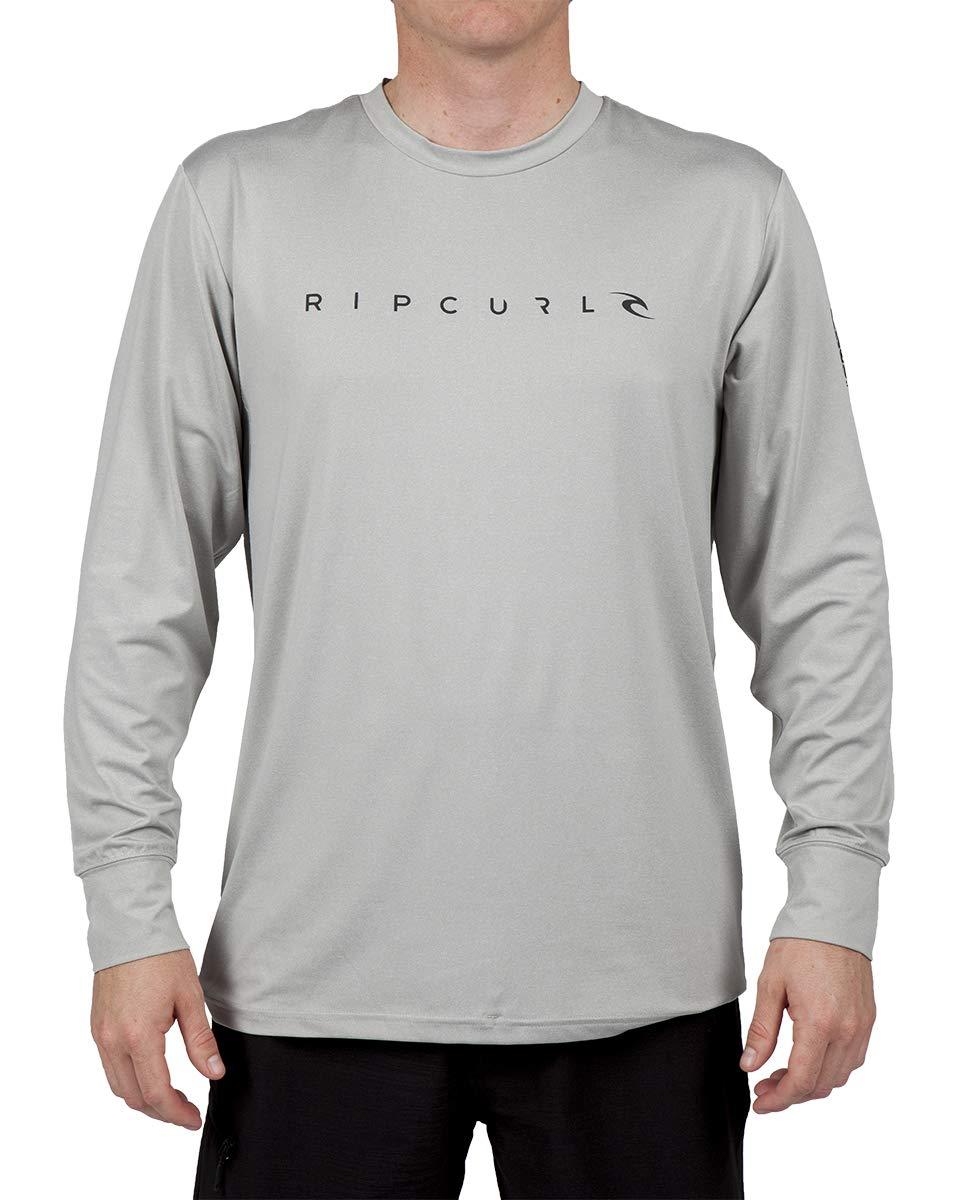 Rip Curl Dawn Patrol SURF TEE Long Sleeve, Grey, S