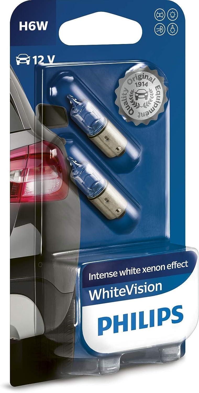 single blister Philips WhiteVision Xenon effect H11 headlight bulb 12362WHVB1