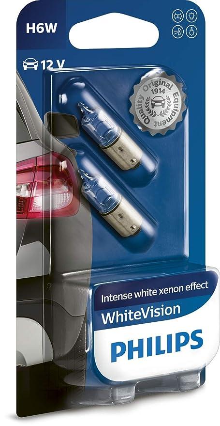 Philips 12036WHVB2 WhiteVision Señalización e Iluminación Interior Convencional, Efecto Xenón, 3100 K, H6W