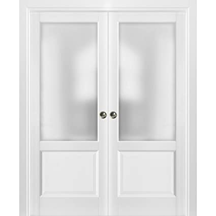 French Double Pocket Doors 48 x 80 with Frames   Lucia 22 ...